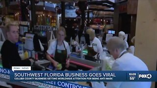 Video of a mask-less scene in Southwest Florida business goes viral