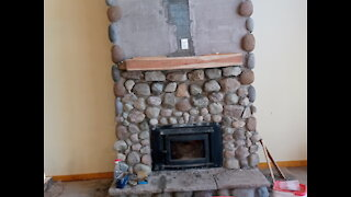 Natural Stone Fireplace with Pacific Energy FP 25