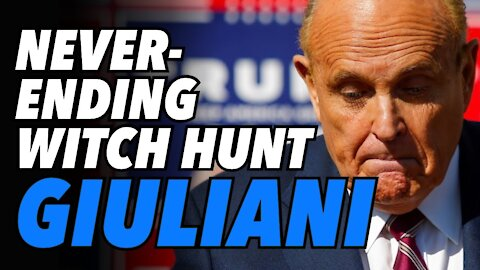 Never-ending witch hunt. Giuliani suspended from practicing law in New York state