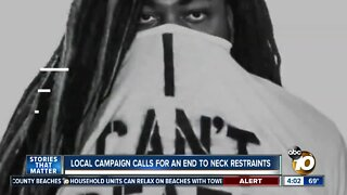 Local campaign calls for an end to neck restraints by officers