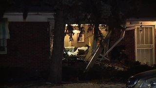Vehicle slams into home on Detroit's east side