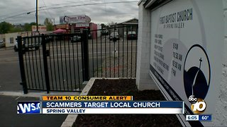 Scammers target Spring Valley church