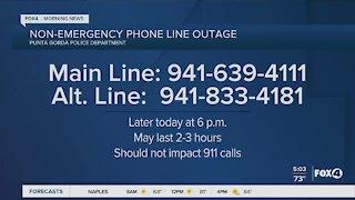 Punta Gorda Police non emergency phone line outage