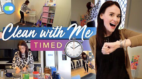 TIMED CLEAN AND ORGANISED WITH ME | Clean With Me ✨