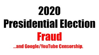 2020 Presidential Election Fraud