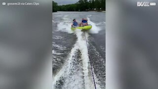 Young man passed out while tubing! 2