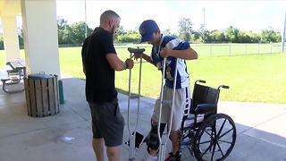 Charlotte Warriors football team raises money for injured player