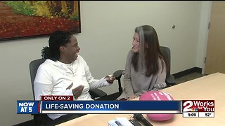 Kidney donor meets recipient for first time