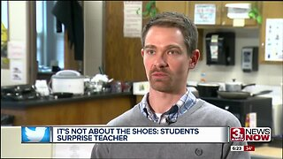 Bellevue teacher moved to tears after students replace stolen sneakers