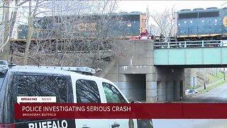 Buffalo police investigating a crash involving a CSX train and a vehcile