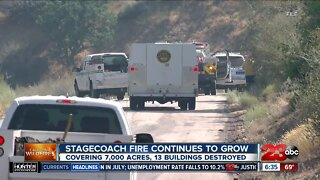 Fire officials discuss optimism heading into day 5 of Stagecoach Fire