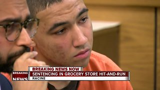 Driver sentenced in grocery store hit-and-run