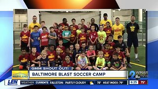 Good morning from the Baltimore Blast Soccer Camp!
