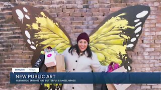 Glenwood Springs art project has butterfly & angel wings