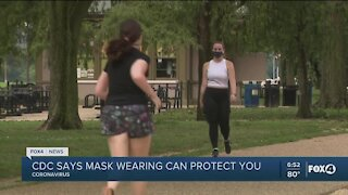 CDC: masks help prevent infection as well as spread of COVID