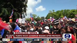 Puerto Rico's Governor resigns after protests
