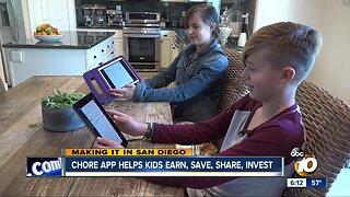 Chore app helps kids save money