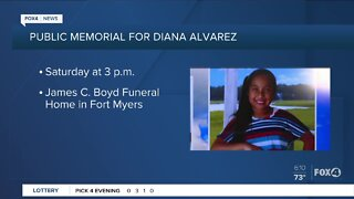 Public memorial service for Diana Alvarez to be held Saturday