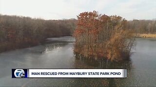 Man falls through newly-formed ice in Northville Township