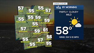 Partly cloudy and mild Tuesday ahead