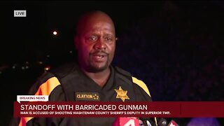 Standoff with barricaded gunman ends in Superior Township