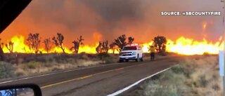 Cima Dome fire burning near Las vegas
