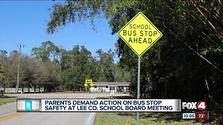 Parents demand action on bus stop safety
