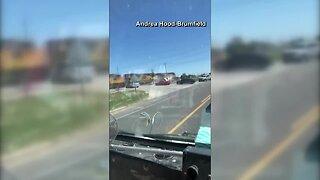 Train slams into Texas deputy's vehicle