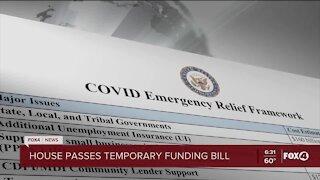 House passes temporary funding bill