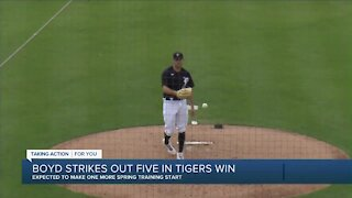 Boyd strikes out five in Tigers spring training win
