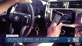 Distracted driving law in effect beginning January 1