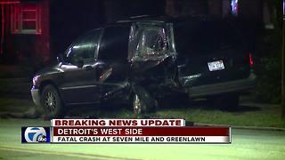 1 Killed in Detroit Crash Overnight