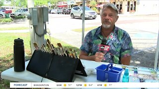 Artists take their paintbrushes to the sidewalk in Gulfport