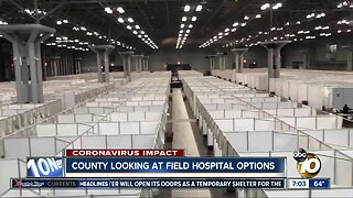 County exploring all possible locations for field hospital