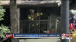 Residents displaced after apartment complex fire