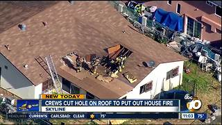 House fire burns Skyline home