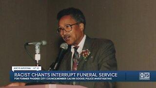 Racist chants interrupt funeral service
