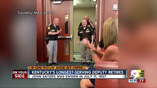 Longest serving Kentucky officer retires from Campbell County Sheriff's Office