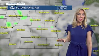 Chance for showers Tuesday morning