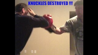 ELBOW HEAD GUARD WITH KNUCKLE DESTRUCTION STRIKES