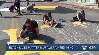 Black Lives Matter murals painted in KC