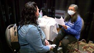 Vaccination milestone at Wisconsin Center