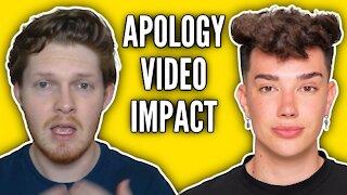 "Impact of James Charles ""holding myself accountable"" Apology Video"