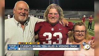 Students mourn Escondido teen killed in weekend crash