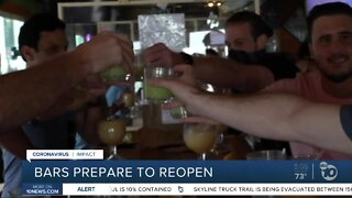 Bars preparing to reopen Friday