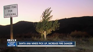 Santa Ana winds whip throughout San Diego County