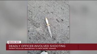 Police fatally shoot man wielding sword on Detroit's west side