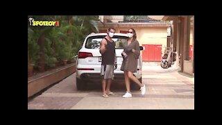 Karan Singh Grover and Bipasha Basu Spotted at Bandra | SpotboyE