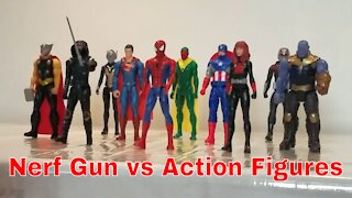 Nerf Gun vs Action Figures
