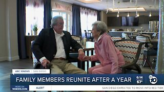 Family members reunite after a year